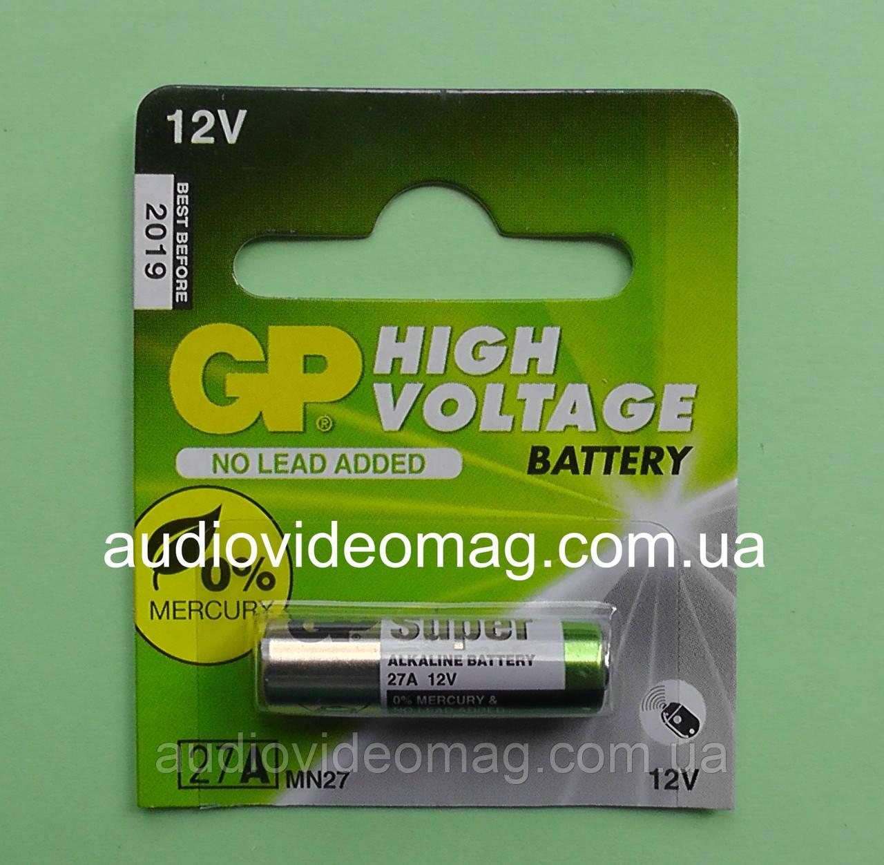Батарейка GP 27А Alkaline щёлочная, 12V Вольт
