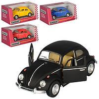 """Модель легковая 5"""" KT5057WM 1967 Volkswagen Classical Beetle (Matte) метал.инерц.откр.дв.кор./96/(KT5057WM)"""