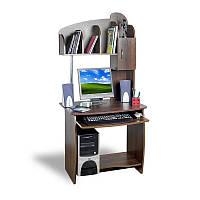 Прямой компьютерный стол с надстройкой Тиса - АЛЬФА