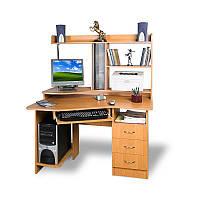 Прямой компьютерный стол с надстройкой Тиса - КОНТУР