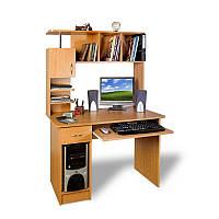 Прямой компьютерный стол с надстройкой Тиса - ЛОГИКА