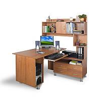 Угловой компьютерный стол с надстройкой Тиса - МОБИ