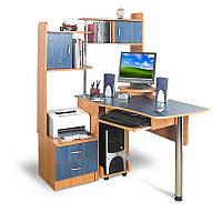 Угловой компьютерный стол с надстройкой Тиса СТН-2