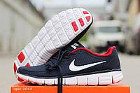 Nike Free Run 5.0 мужские кроссовки синие с белым в фирменных коробках