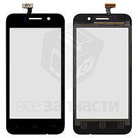 Сенсорный экран для мобильного телефона Fly IQ446 Magic, original, черный, #166100232