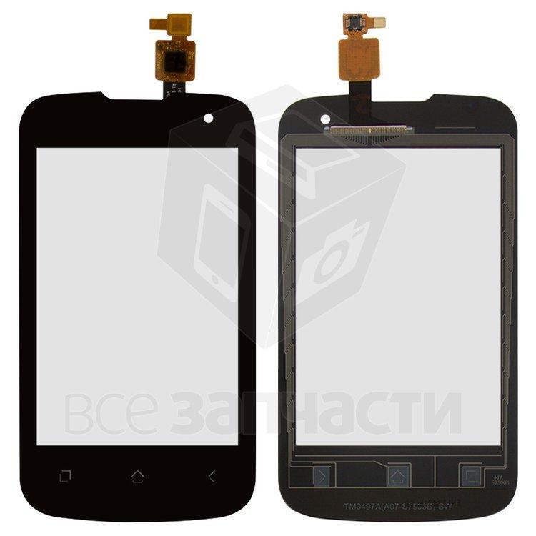 Сенсорный экран для мобильного телефона Fly IQ430 Evoke, original, черный, #M202-G24130-000