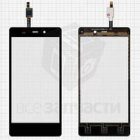 Сенсорный экран для мобильного телефона Fly IQ453, черный, #1224TCM43E59V2.0 5415K FPC-1