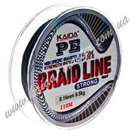Плетенка для рыбалки 0,35 мм Kaida Braid Line strong YX-112-35, плетеная леска для спиннинга 110 метров