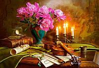 "Кастор пазлы 1500 ""Натюрморт со скрипкой и цветами""68*47 /14/(С-151530)"