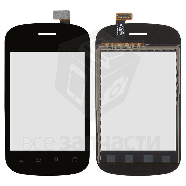 Сенсорный экран для мобильного телефона Fly IQ235, черный
