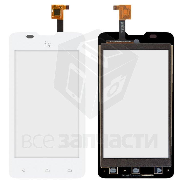 Сенсорный экран для мобильного телефона Fly IQ449 Pronto, original, белый, #622W95000400