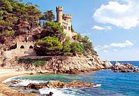 """Кастор пазлы 1000 """"Крепость Lloret de Mar, Испания""""68*47 /14/(С-100774)"""