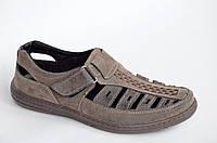 Летние туфли босоножки сандали мужские Львов качесственный кожзам (Код: 1028)