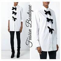 Рубашка женская блузка Бантики 439