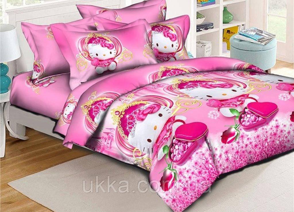 Детское постельное белье полуторное Китти подростковый