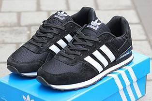 Подростковые кроссовки Адидас, Adidas черно-белые