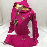 Женский розовый спортивный костюм с капюшоном  LV