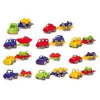 """Авто с прицепом """"Kid Cars Sport"""", в кор. 25*10см (30шт), ТМ Wader(52600)"""