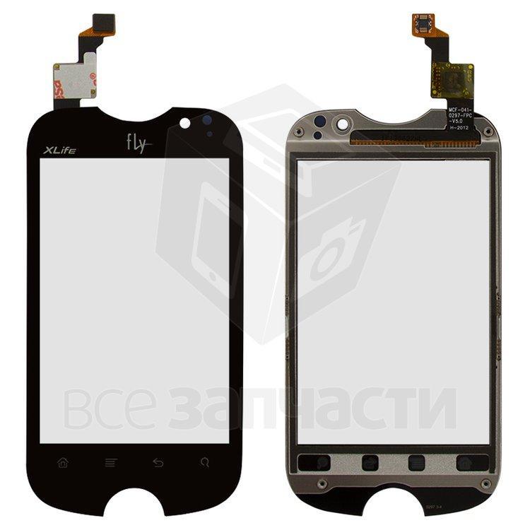 Сенсорный экран для мобильного телефона Fly IQ275 Marathon, с рамкой, original, черный, #166300012