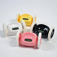 Убегающий будильник, будильник на колесиках Clocky, купить будильник, часы будильник, часы робот, креативные