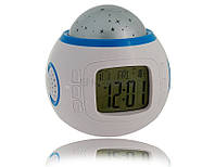 Часы проектор Music And Starry Sky Calendar 1038, будильник, проектор звездного неба, прожектор неба