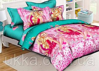 Детское постельное белье полуторное Барби подростковый