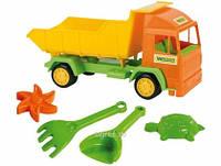 """Грузовик """"Mini truck"""" с набором для песка, 5 эл., в сетке 27*15см, ТМ Wader(39157)"""