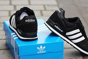 Подростковые кроссовки Адидас, Adidas черно-белые, фото 2