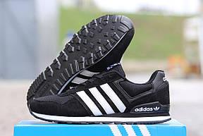 Подростковые кроссовки Адидас, Adidas черно-белые, фото 3