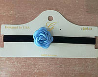 528 Модный чокер с розой. Колье чокеры. Женские украшения на шею оптом