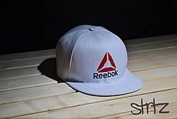 Модный белый снепбек рибок,Reebok Crossfit Snapback Cap (реплика)