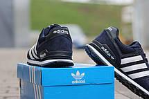 Подростковые кроссовки Адидас, Adidas темно синие с белым 38, фото 3