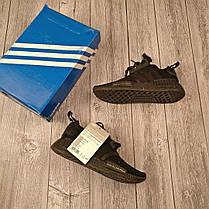 Женские кроссовки Adidas NMD Runner черные топ реплика, фото 3
