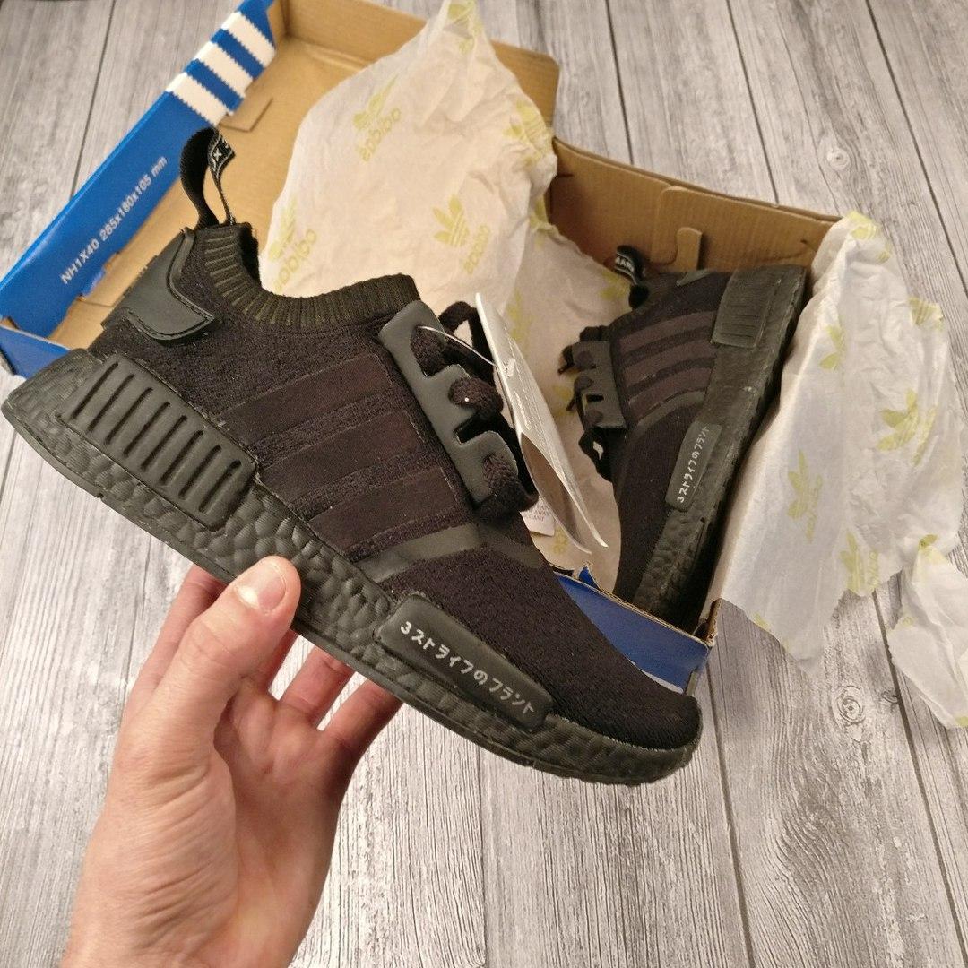 Женские кроссовки Adidas NMD Runner черные топ реплика