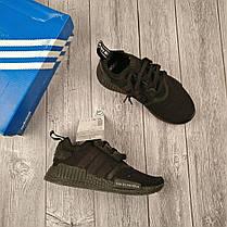 Женские кроссовки Adidas NMD Runner черные топ реплика, фото 2