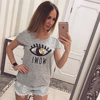 Футболка женская модная WOW Турция, магазин женской одежды