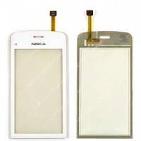 Сенсор (Touch screen) Nokia C5-03/ C5-06 белый копия
