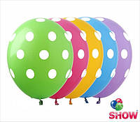"""Воздушные латексные шарики Горошек 100 штук, 12"""" 30 см ТМ Show"""