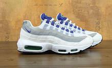 Женские кроссовки Nike Air Max 95 White/Grey/Violet топ реплика, фото 2