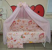 """Фирменный комплект постельного белья 9 предметов """"Карапузики"""" для девочек"""