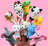 Мягкие игрушки на пальчики игрушка на руку пальцы зверюшки плюшевые милые зверята