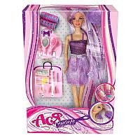 """Кукла Ася шарнирная """"Модные прически"""", 28 см, брюнетка, вариант 1, в кор. 32*13*5см(35063)"""