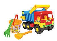 """Машина """"Mini truck"""" с набором для песка, 4 эл., в сетке ,35*25см,  ТМ Wader(39159)"""