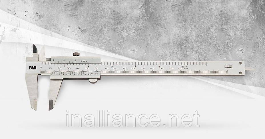 Штангенциркуль 200 мм з нержавіючої сталі BMI 760200