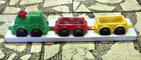 "Машина ""Максік"" Паравоз з вагонами, в кор. сетке 63*16 см, ТМ Технок, Україна (12шт)(2339)"