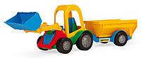 """Машина """"Трактор-багги с ковшом и прицепом"""", под слюд. 38*14см (30 шт.), ТМ Wader(39229)"""