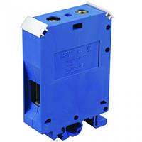 Зажим наборный ЗНИ- 6мм2 (JXB50A) синий на DIN-рейку ИЭК