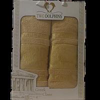 Набор полотенец TM Sveline Tekstil (Турция) 2 Пр. (50х90-70х140) - серии Greek Сlass (бежевый)