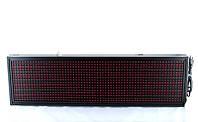 Светодиодная бегущая строка 203х23см Red, рекламное красное табло