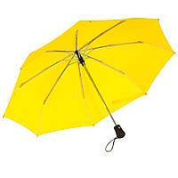 Зонт Bora складной,  автомат, резиновая ручка, желтый, от 10 шт.
